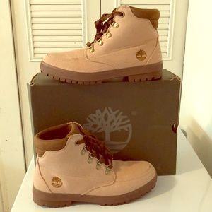 TIMBERLAND MEN SIZE 10 BROWN AND BEIGE
